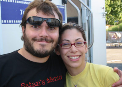 Makeup done by Jill on the set of a pilot filming on actor and musician Jack Black