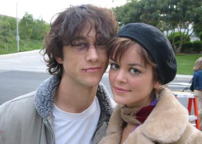 Joseph Gordon-Levit and Norah Zehetner on the set of Brick, makeup ready thanks to Jill!
