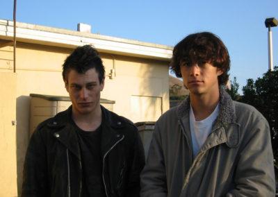 Behind the scenes with Joseph Gordon-Levitt and Noah Segan on the set of Brick.