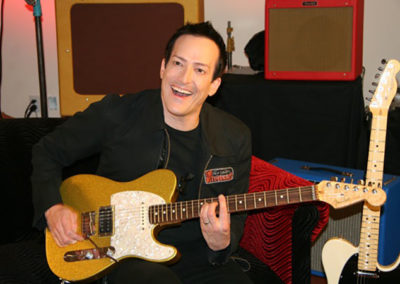 Richard Patrick of Filter  on set for a promotional photoshoot for Fender guitars. Makeup done by Jill!