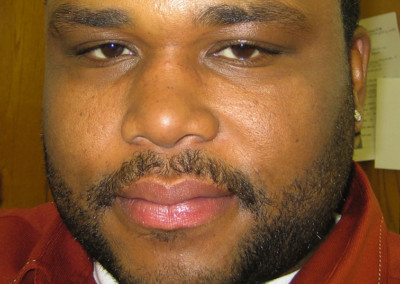 A makeup look done by Jill on actor Anthony Anderson on the set of Campus Ladies