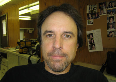 A makeup look done by Jill on actor Kevin Nealon on the set of Campus Ladies.