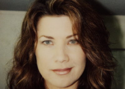 A makeup look done by Jill on actress Daphne Zuniga on the set of A-list.