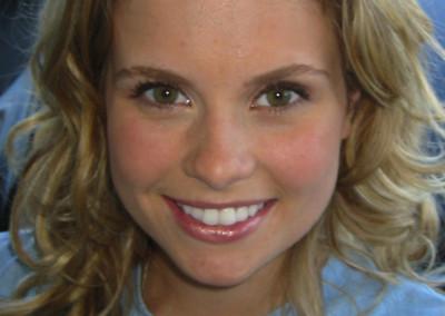 Makeup work done by Jill on Actress Joanna Garcia