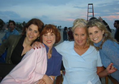 Behind the scenes with A-list actresses Joanna, Sally, Renee and the film's director. Jill's makeup artistry looks great!