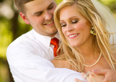 Bridal makeup client Kimberly Bercen and Husband Chris post ceremony.