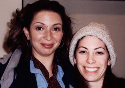 Jill with actress Maya Rudolph on set for Campus Ladies. Maya is camera ready thanks to Jill!