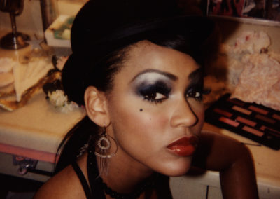 Meagan Good looking fabulous on the set of Brick thanks to Jill's awesome makeup skills!