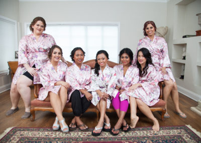Nichol Gomez and her brides make, all sporting bridal makeup looks done by Jill.