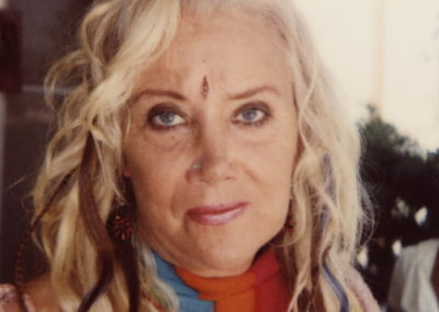 A makeup look done by Jill on actress Sally Kirkland on the set of A-list